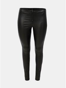 Černé lesklé kalhoty se zipem Zizzi Autimn