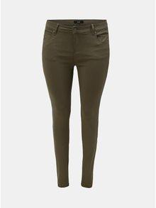 Khaki slim džíny s kapsami Zizzi