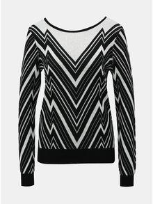 Bílo-černý vzorovaný svetr VERO MODA Zigga