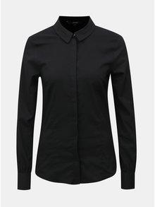 Černé košile s dlouhým rukávem VERO MODA Lilian