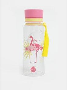 Sticla din plastic cu model de flamingo EQUA 600 ml
