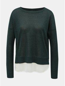 Zelený třpytivý svetr s všitým dílem ONLY Darling