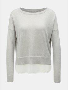 Šedý třpytivý svetr s všitým dílem ONLY Darling
