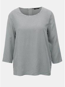 Bluza negru-alb cu model si maneci 3/4 ONLY Nova