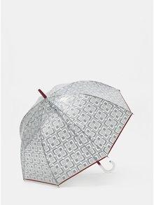 Umbrela automata transparent cu terminatie rosie Rainy Seasons