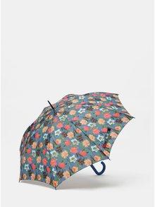 Umbrela automata albastra cu model floral Rainy Seasons