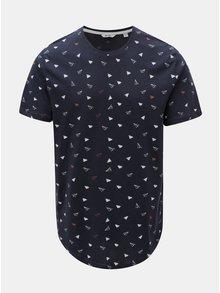 Tmavě modré tričko s vlaštovkami ONLY & SONS Gene