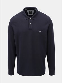 Tmavě modré polo tričko s dlouhým rukávem Fynch-Hatton