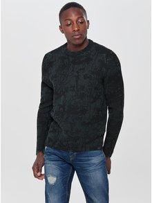 Tmavomodrý vzorovaný sveter ONLY & SONS Len