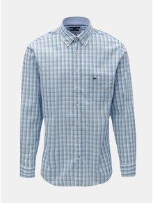 Modrá vzorovaná casual fit košile Fynch-Hatton