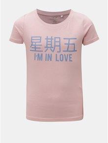Starorůžové holčičí tričko s potiskem LIMITED by name it