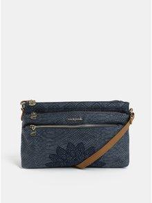 Modrá kabelka s výšivkou Desigual Aquiles