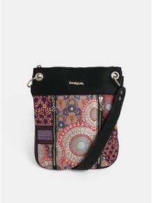 Růžovo-černá vzorovaná kabelka Desigual Slavia