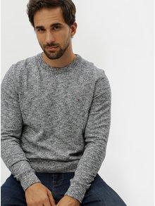 Krémovo-modrý melírovaný sveter Tommy Hilfiger