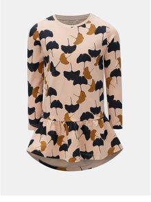 Meruňkové mikinové šaty s potiskem Name it Veta