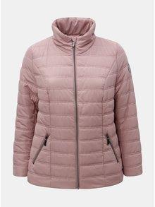 Starorůžová zimní prošívaná bunda Ulla Popken