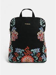 Černý batoh s výšivkou Desigual Odissey