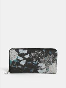 Krémovo-černá vzorovaná peněženka Desigual Arcadia