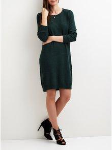 Zelené žíhané svetrové šaty VILA Viril