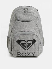 Šedý žíhaný batoh Roxy Feel happy