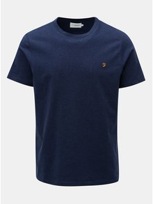 Tmavě modré žíhané tričko Farah Denny Slim