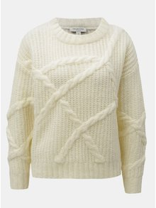 Pulover crem oversize crop Selected Femme