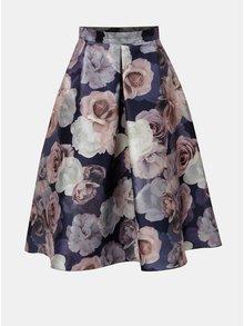 Růžovo-fialová květovaná midi sukně Dorothy Perkins