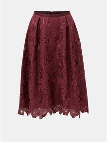 Vínová krajková midi sukně Dorothy Perkins