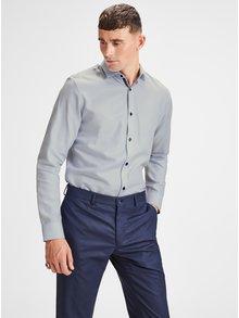 Camasa slim fit albastru deschis cu model discret Jack & Jones