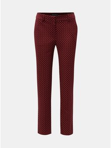 Vínové bodkované nohavice Dorothy Perkins Tall
