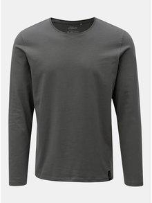 Šedé pánské slim fit tričko s kulatým výstřihem s.Oliver