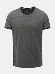 Šedé pánské žíhané slim fit tričko s.Oliver