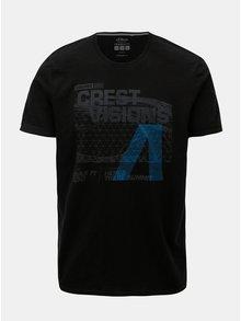 Černé pánské regular fit tričko s potiskem s.Oliver