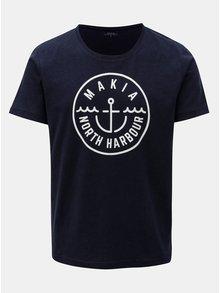 Tmavě modré tričko s potiskem Makia Crown