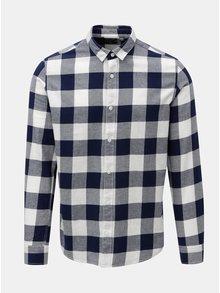 Bílo-modrá kostkovaná slim košile s dlouhým rukávem ONLY & SONS Gudmund