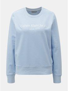 Modrá dámská mikina s výšivkou Calvin Klein Jeans