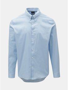 Světle modrá slim fit košile s detailem se stříbrné barvě  Burton Menswear London