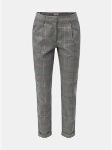 Šedé kostkované kalhoty s kapsami Jacqueline de Yong Erika