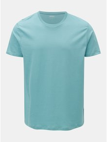 Světle modré basic regular fit tričko Burton Menswear London
