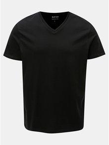 Černé basic regular fit tričko Burton Menswear London