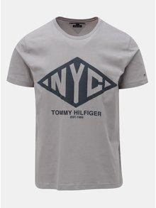 Šedé pánské tričko s potiskem Tommy Hilfiger Shear Tee 516bd1ee513