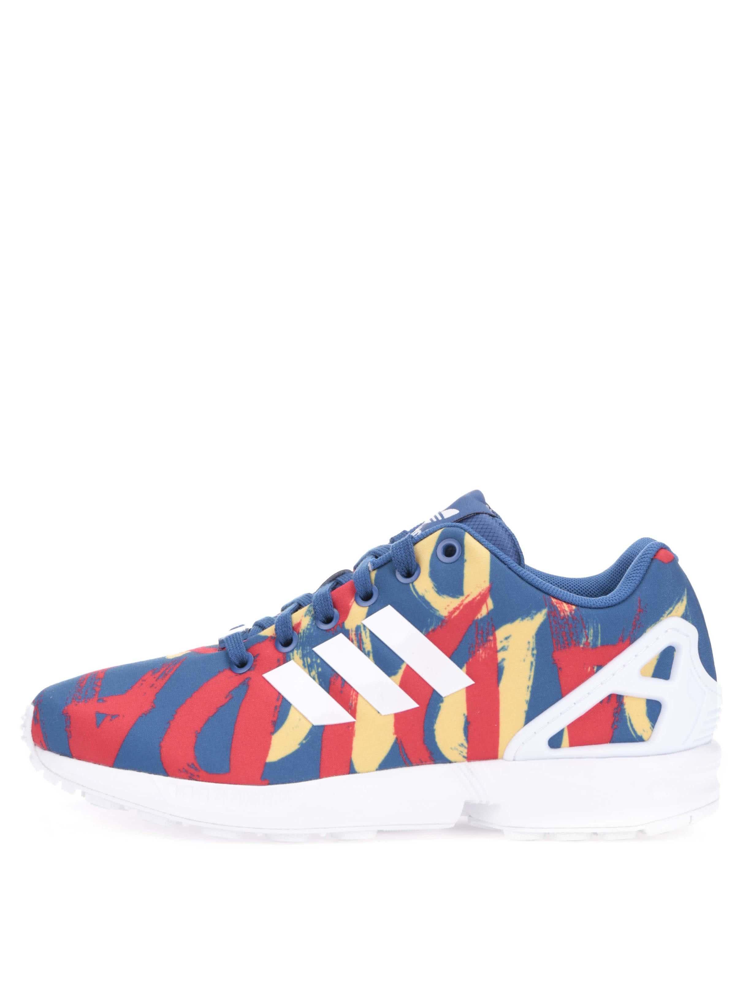 Červeno-modré dámské tenisky adidas Originals Flux W