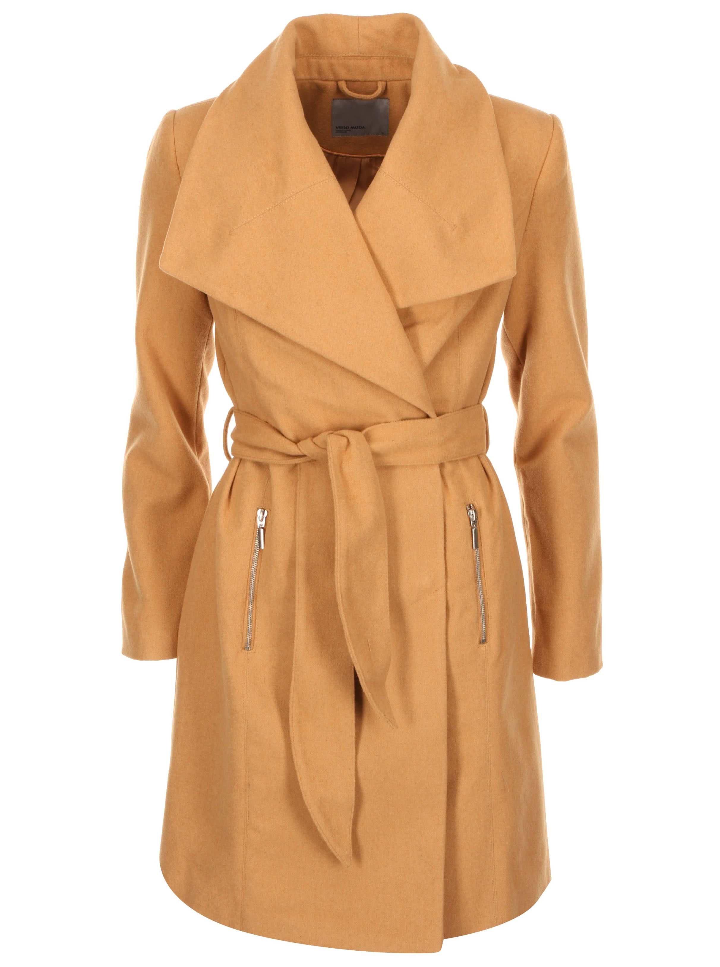 Béžový kabát Vero Moda Kate