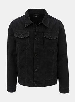 Čierna pánska rifľová bunda Burton Menswear London