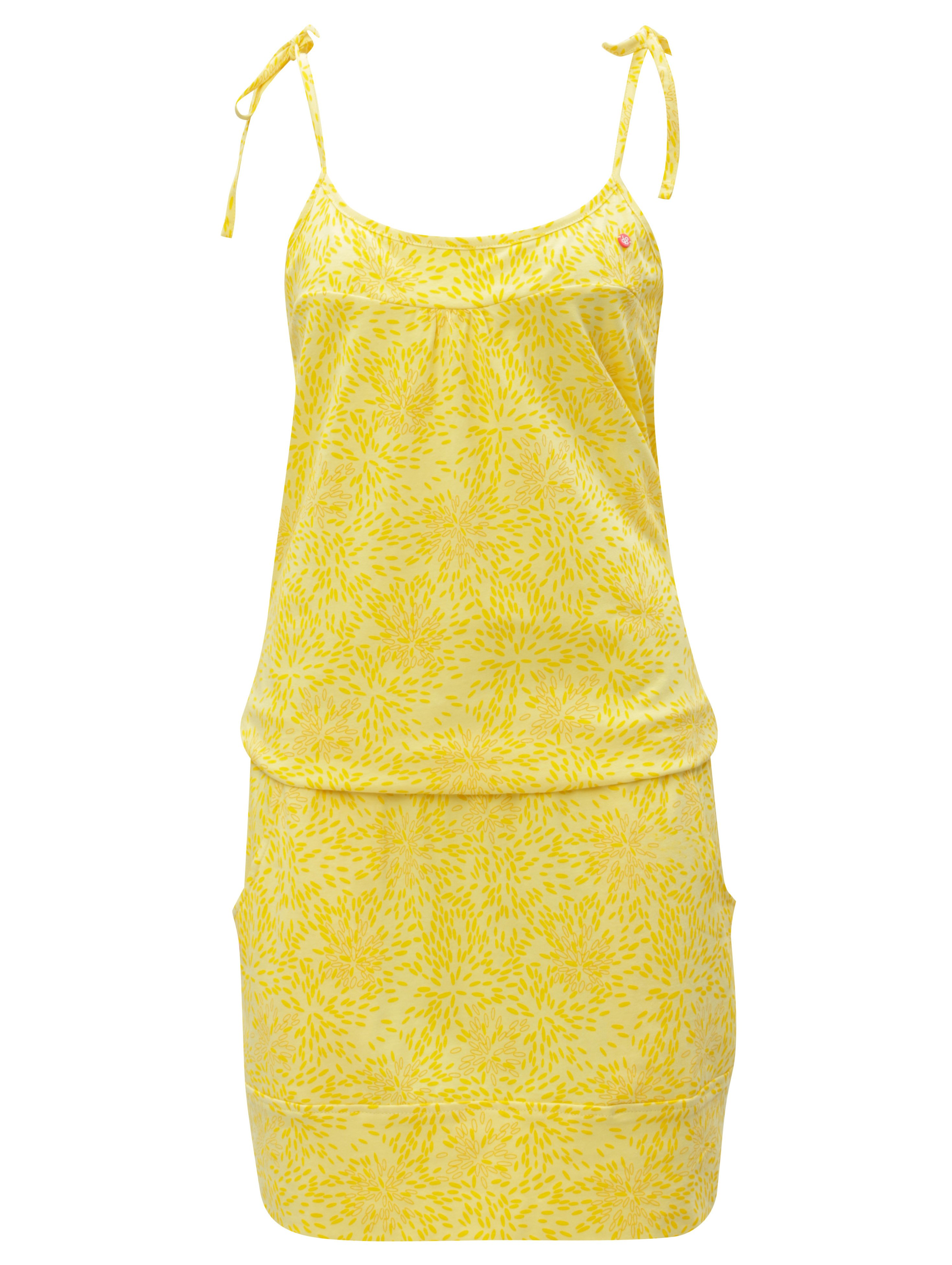Oranžovo-žluté vzorované šaty s kapsami LOAP Amie