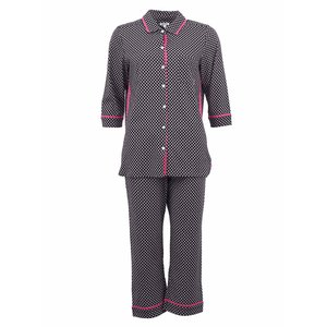 Pijamale DKNY negre cu model