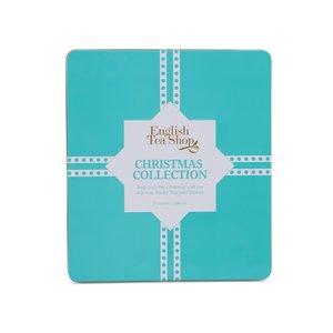 Cutie din tablă pentru plicuri de ceai English Tea Shop Blue Christmas
