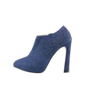 Botine sexy de la Victoria Delef albastre cu ștrasuri