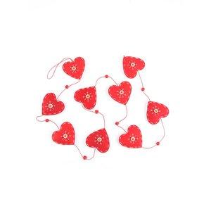 Ghirlandă roșie Dakls cu inimi