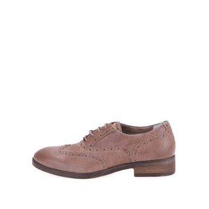 U.S. Polo Assn. Pantofi Oxford de damă Lauryn din piele, cu perforații – bej